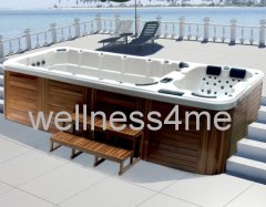 outdoor whirlpool jacuzzi mit mp3 player beleuchtung wasserfont ne abdeckung. Black Bedroom Furniture Sets. Home Design Ideas