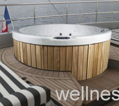 outdoor whirlpool jacuzzi rund komplette ausstattung plus abdeckung 5 personen. Black Bedroom Furniture Sets. Home Design Ideas