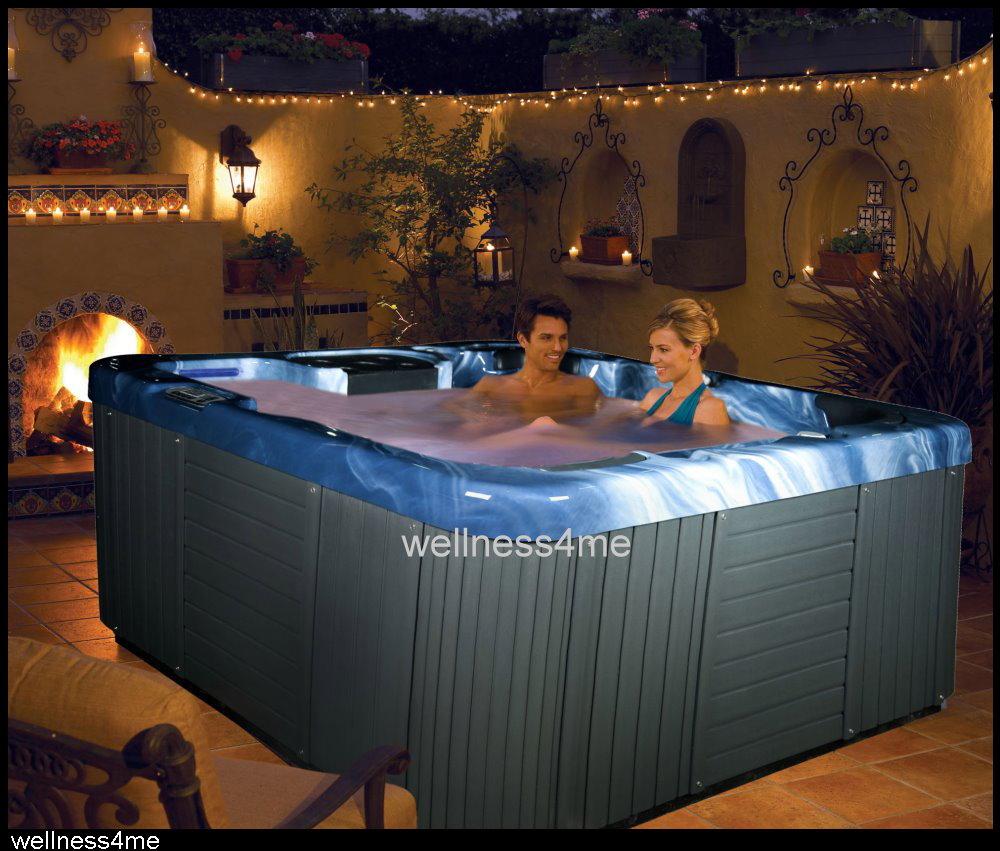 outdoor whirlpool spa jacuzzi f 4 personen m heizung led licht thermoabdeckung ebay. Black Bedroom Furniture Sets. Home Design Ideas