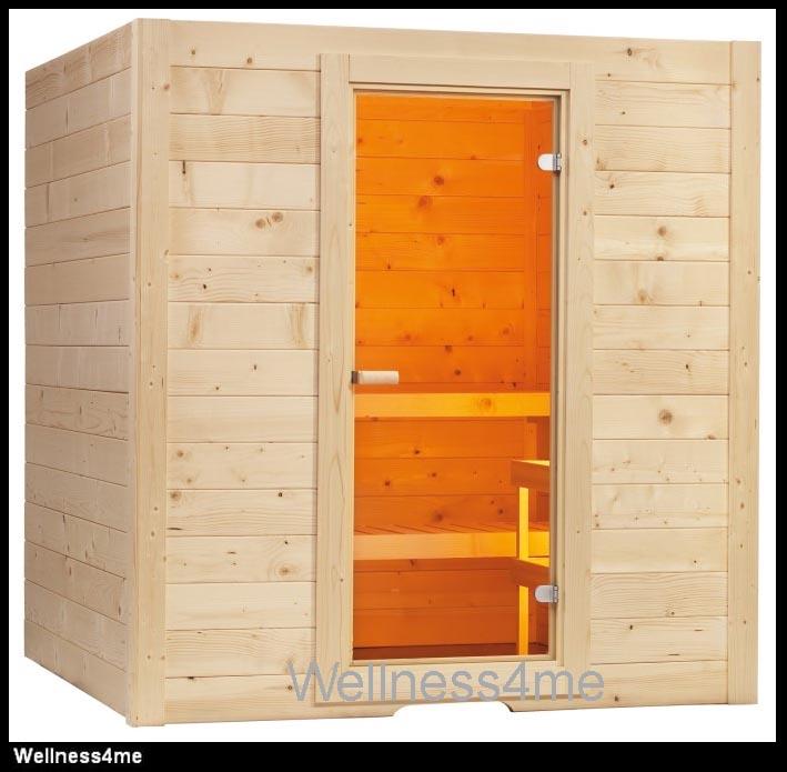 blockbohlen sauna 195x156cm m 8kw ofen steuerung sawo ebay. Black Bedroom Furniture Sets. Home Design Ideas