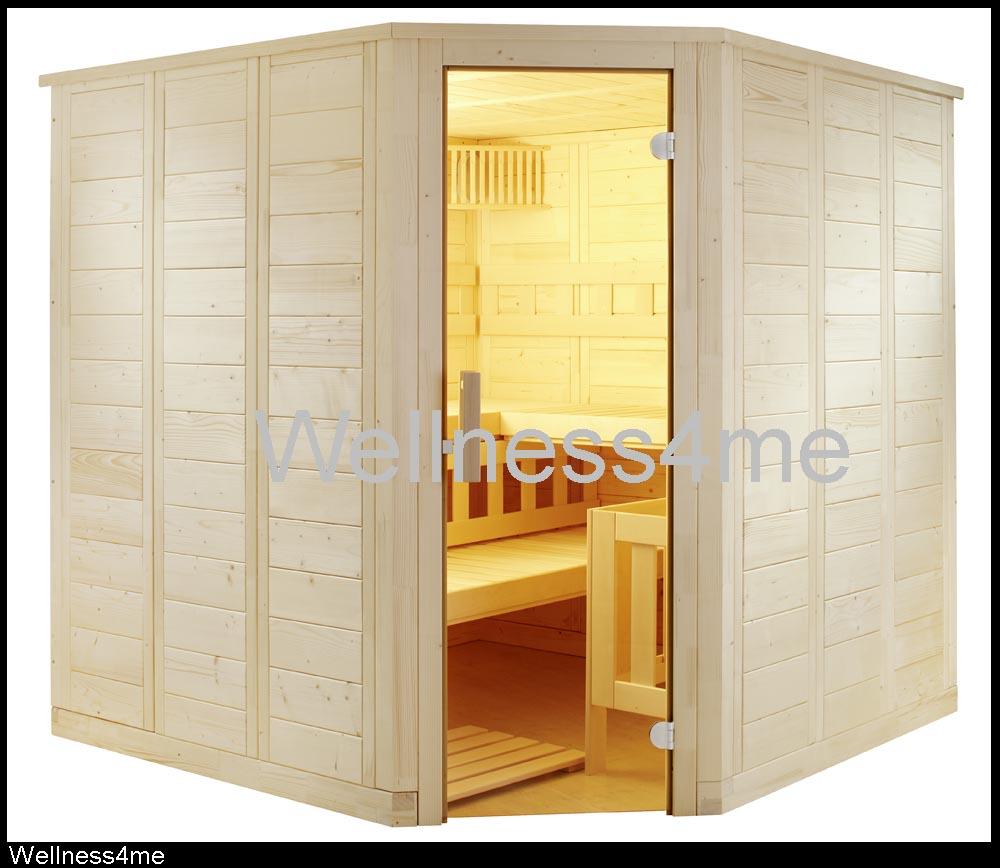 bio saunakabine massivholz 206x206 sauna ofen steuerung chf 3 picclick ch. Black Bedroom Furniture Sets. Home Design Ideas