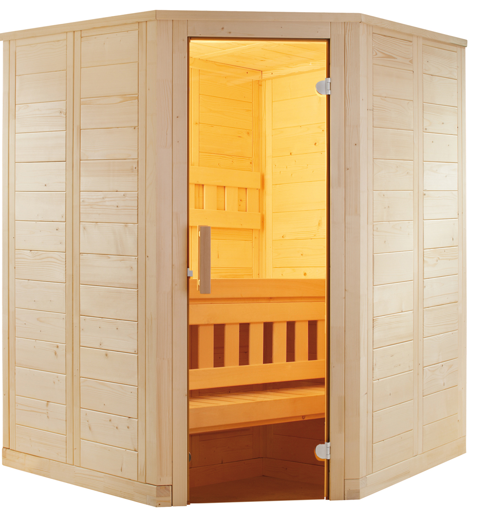 mini saunakabine 145x145 cm sauna ofen steuerung steine edel 1 2 personen ebay. Black Bedroom Furniture Sets. Home Design Ideas