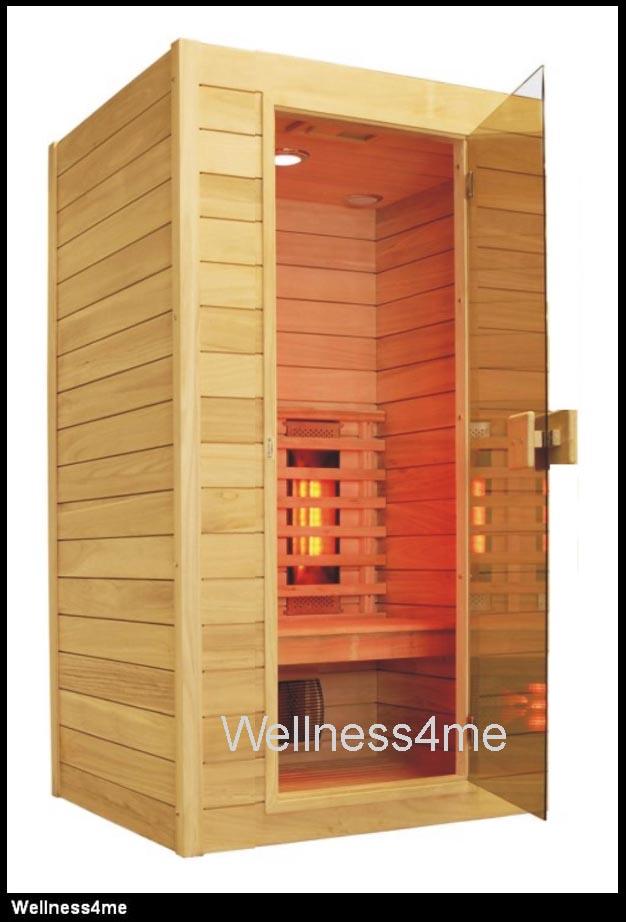 infrarot w rme kabine mit 5 vollspektrum strahler farblicht led radio f r 1 2 p ebay. Black Bedroom Furniture Sets. Home Design Ideas