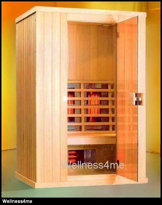 luxus infrarot w rme kabine 6 vollspektrum strahler led radio kompl ausstattung ebay. Black Bedroom Furniture Sets. Home Design Ideas