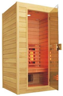 ir kabine infrarotkabine mit 6 vollspektrum strahler rotlicht farblicht radio ebay. Black Bedroom Furniture Sets. Home Design Ideas