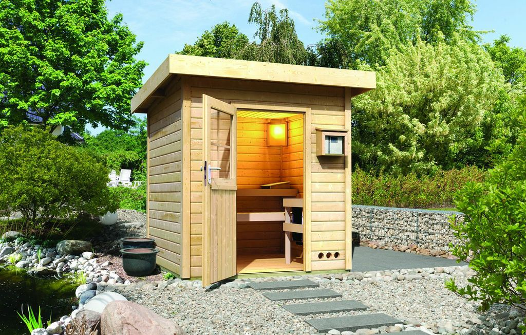 au ensauna pultdach gartensauna saunahaus sauna haus wahlweise eos technik ebay. Black Bedroom Furniture Sets. Home Design Ideas