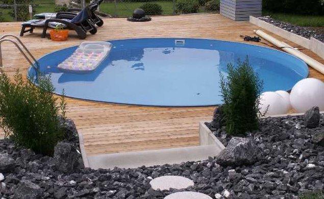 Schwimmbecken rundbecken schwimmbad rund becken for Rundbecken pool