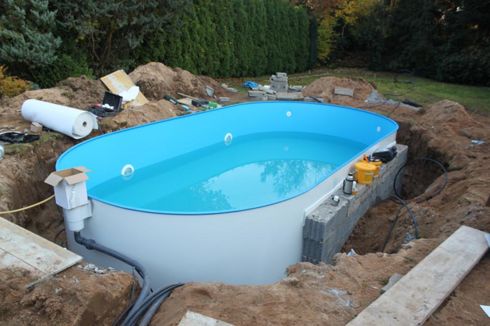 Aktion folie schwimmbad innenh lle 6 23 x 3 6 x 1 5 blau for Pool stahlbecken